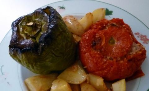 Gemista (tomates et poivrons farcis)