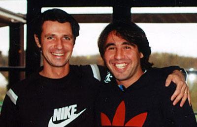 Marcos Baghdatis (à dr.) et son ami et coach Patrick Mouratoglou