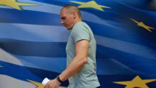 Le ministre des Finances grec a annoncé lundi qu'il quittait son poste au lendemain du référendum. Crédits photo : ANDREAS SOLARO/AFP