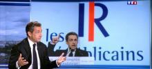 Nicolas Sarkozy sur le plateau du journal de 20 heures de TF1.