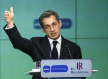 Nicolas Sarkozy lors d'une conférence de presse commune avec Mariano Rajoy (PP) à Madrid, le 29 juin.