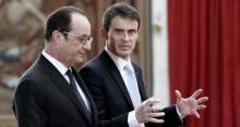 François Hollande et Manuel Valls, en février dernier. - AFP