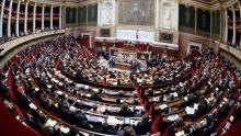 L'hémicycle de l'Assemblée nationale. Crédits photo : MARTIN BUREAU/AFP