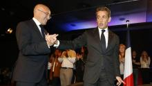 Éric Ciotti et Nicolas Sarkozy à Nice, le 21 octobre 2014. Crédits photo : VALERY HACHE/AFP