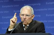 Wolfgang Schäuble le 14 juillet dernier - AFP PHOTO / THIERRY CHARLIER