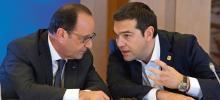 François Hollandeet Alexis Tsipras, à Bruxelles, le 22 juin 2015, lors d'une réunion de l'Eurogroupe. Crédits photo : Zucchi/European Union/ROPI-REA/Zucchi/European Union/ROPI-REA