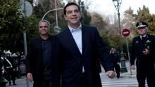 «Je servirai toujours la Grèce et l'intérêt du peuple grec», a déclaré Alexis Tsipras lors d'une prestation de serment. Crédits photo : ANGELOS TZORTZINIS/AFP