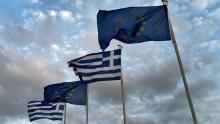 La crainte d'un éclatement de la zone euro plane depuis le début de la crise grecque, en 2010 (Crédit: Aris MESSINIS/AFP) Crédits photo : ARIS MESSINIS/AFP