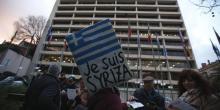 Manifestation devant le siège de la Commission européenne à Lisbonne. REUTERS/Rafael Marchante (PORTUGAL - Tags: POLITICS BUSINESS)