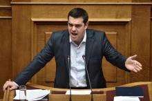 Le Premier ministre grec Alexis Tsipras, le 30 mars 2015 au Parlement grec (Photo Aris Messinis. AFP)