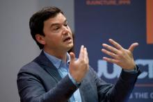 Thomas Piketty à Londres, le 30 avril 2014.