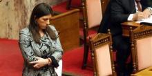Zoé Konstantopoulou, la plus jeune présidente du parlement grec. (Crédits : Reuters)