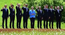 Dimanche, lors du sommet organisé en Bavière par Angela Merkel, les chefs d'Etats du G7 n'ont pas trouvé de solution au problème grec. - AFP PHOTO / JOHN MACDOUGALL