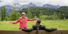 """""""Les Grecs vont devoir faire des choix politiques difficiles qui seront bons pour eux sur le long terme"""", a souligné le président américain Barack Obama - Angela Merkel insistant, elle, sur le fait qu'""""il ne reste plus beaucoup de temps"""". (Crédits : Reuters)"""