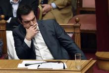 Le Premier ministre Grec, Alexis Tsipras, le 15 juillet au Parlement à Athènes - AFP PHOTO / ARIS MESSINIS