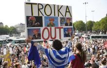 Il y a plus d'un an que les responsables de l'UE, la BCE et le FMI - la «?troïka?» - n'étaient pas venus en Grèce - AFP/ LOIC VENANCE