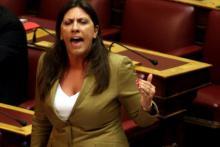 Zoé Konstantopoulouce jeudi soir au Parlement. © EPA