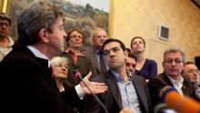 Jean-Luc Mélenchon et Alexis Tsipras à Paris, le 21 mai 2012. Crédits photo : Lemouton Stephane/ABACA