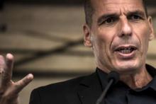 Yanis Varoufakis lors de la Fête de la Rose ce 23 août. © Jean-Philippe Ksiazek, AFP