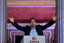 Bien qu'elle soit confrontée à la défection d'une partie de ses troupes à la suite du 3ème plan d'aide accordé à la Grèce par ses créanciers, Syriza devance de 3,5 points la droite Nouvelle-Démocratie (ND) dans les intentions de vote - AFP