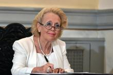 La présidente de la Cour suprême Vassiliki Thanou dirigera le nouveau gouvernement grec par intérim. Image: Keystone