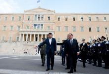 François Hollande et le premier ministre grec, à Athènes, jeudi 22 octobre 2015. Crédits photo : ALAIN JOCARD/AFP