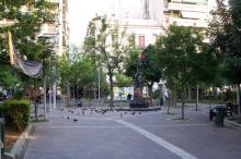 Le quartier d'Exarchia à Athènes est souvent le théâtre d'incidents surtout entre des groupes de jeunes et des policiers. Image: Badseed/WikiCommons