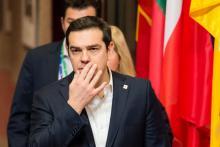 Le premier ministre grec, Alexis Tsipras, à Bruxelles, le 17 mars.