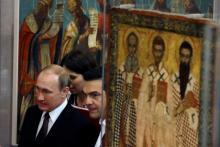 La visite de deux jours en Grèce de Vladimir Poutine avait également une dimension religieuse. Image: Keystone