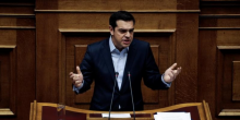 Alexis Tsipras refuse les nouvelles mesures d'austérité exigées par le FMI, tout en reprochant à l'Allemagne de bloquer le dossier. (Crédits : © Alkis Konstantinidis / Reuter)