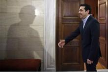 Alexis Tsipras recevait le chef de l'Eurogroupe, Jeroen Dijsselbloem, vendredi 30janvier.
