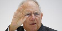 """""""Si le gouvernement grec respecte tous les accords, les ministres des Finances européens pourraient finir l'évaluation le 22 mai et permettre le déblocage de la prochaine tranche"""" d'aide (5,4 milliards d'euros, Ndlr), assure Wolfgang Schäuble. (Crédits : © Fabrizio Bensch / Reuters)"""