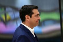 Le Premier ministre grec, Aléxis Tsípras, au siège de l'Union européenne, à Bruxelles, le 29 avril.