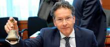 Jeroen Dijsselbloem, le président de l'Eurogroupe, s'est félicité de l'accord de la zone euro et du FMI pour débloquer 8,5 milliards d'euros.© Anadolu Agency/ Dursun Aydemir