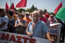 Manifestation contre l'austérité à Athènes, le 15 juin.