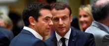Le Premier ministre grec, Alexis Tsipras, reçoit Emmanuel Macron pour un voyage officiel de 2 jours les 7 et 8 septembre. © EMMANUEL DUNAND / AFP