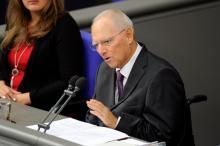 Wolfgang Schäuble vient d'être élu président du Parlement allemand. (Mardi 24 octobre 2017) Image: AFP