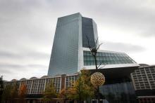 «Il faut mettre fin à ce pillage. Les profits de la BCE doivent être intégralement utilisés pour financer les dépenses sociales et relancer l'emploi afin de remédier aux effets dramatiques des politiques dictées par la troïka» (Photo: la BCE, à Francfort, le 26 octobre).