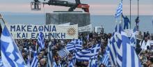 Des dizaines de milliers d'opposants au compromis sur le nom de la Macédoine envisagé par le gouvernement grec se sont rassemblés dimanche après-midi à Athènes. © Nicolas Economou / NurPhoto/