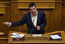 Alexis Tsipras, premier ministre grec, au Parlement à Athènes, le 22 février.