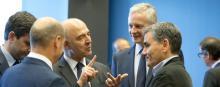 Les ministres de l'Eurogroupe en réunion à Luxembourg, jeudi 21juin 2018. © Virginia Mayo/AP