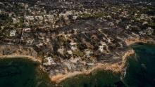 La station balnéaire de Mati, près d'Athènes, a été dévastée par les incendies, ici le 26 juillet 2018