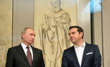 Vladimir Putine et Alexis Tsipras en mai2016. - AFP PHOTO/sputnik pool AND SPUTNIK/Alexei Druzhinin