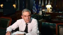 Le ministre-adjoint chargé notamment de l'Ordre public et de la Protection des citoyens, Nikos Toskas, à Athènes, le 26 novembre 2015