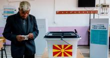 Le scrutin sur le changement de nom de la Macédoine n'a pas mobilisé les foules dans les bureaux de vote à Skopje - DIMITAR DILKOFF/AFP