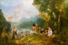 Pèlerinage à l'île de Cythère, Antoine Watteau - 1717