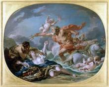 Neptune délivrant Amymone du satyre, François Boucher - 1764