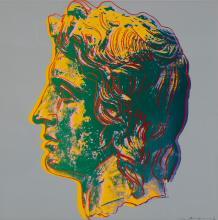 Alexandre le Grand par Andy Warhol. Sérigraphie 100 x 100 cm, 1982