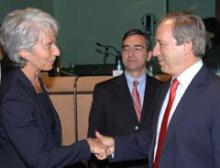 Georgios Alogoskoufis avec Christine Lagarde