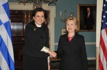 Dora Bakoyannis reçue par Hillary Clinton